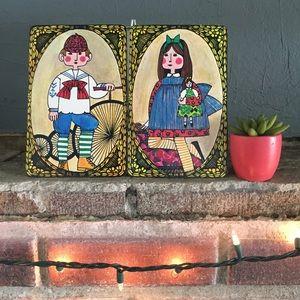Vtg Faroy Inc Pop Art Postcards Boy & Girl